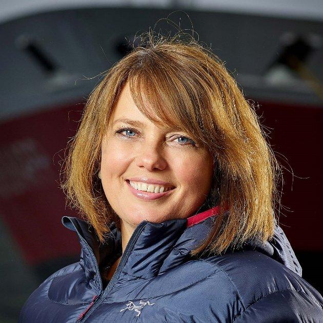 Anne Marit Bjørnflaten, kommunikasjonsdirektør i Hurtigruten