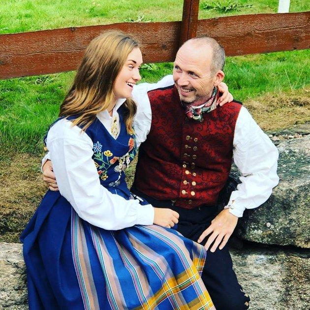 Geir og Elise, datter og forfatter av dette innlegget.