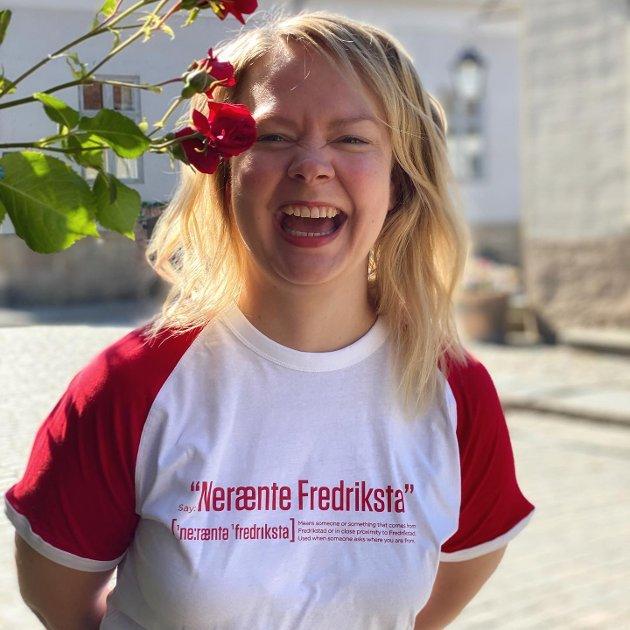 FRA FREDRIKSTAD: Hedda Takle (34) i modellen «Nerænte Fredriksta».
