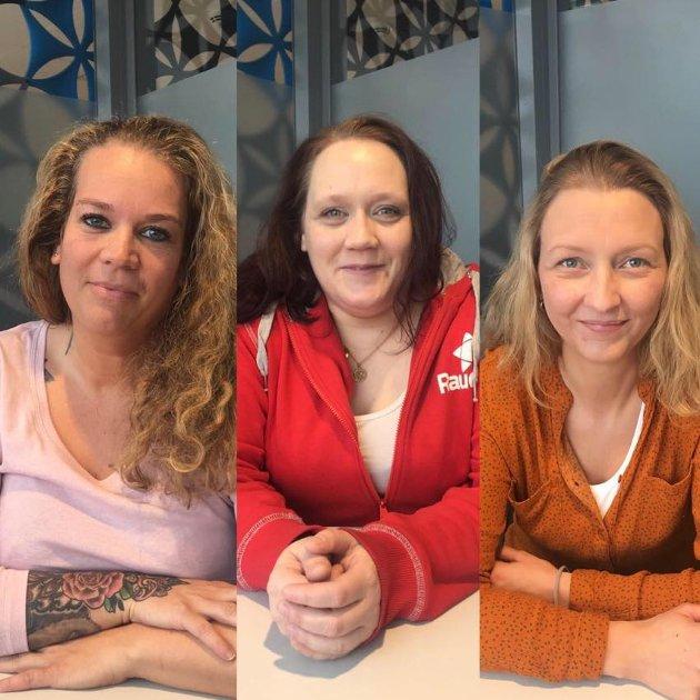 For Rødt Narvik: Lene Odlolien 1. kandidat ved kommunevalget, Hanne Bjerkvik 2. kandidat ved kommunevalget, Elisabeth Anethe Olsen 3. kandidat ved kommunevalget.