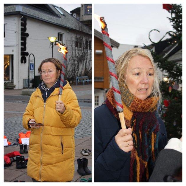 Margit Steinholt, Rødt-politiker, lege og mangeårig flyktningeaktivist og Hanne Benedikte Wiig, andrekandidat for Rødt Nordland til Stortingsvalget.