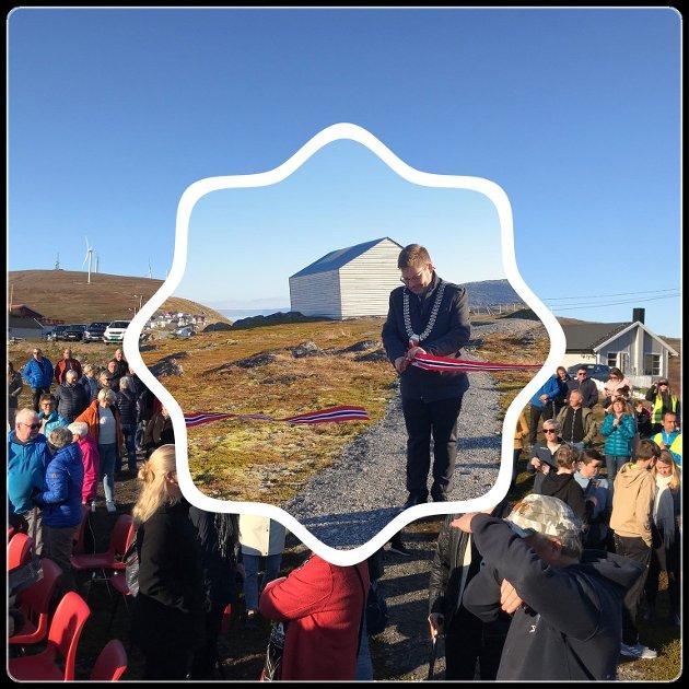 Åpning av kunstinstallasjonen i Havøysund.