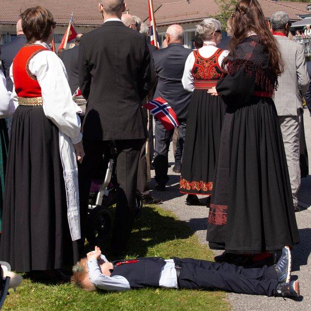Ådne treng ein pust i bakken. (Foto: Inge Audun Røssland).