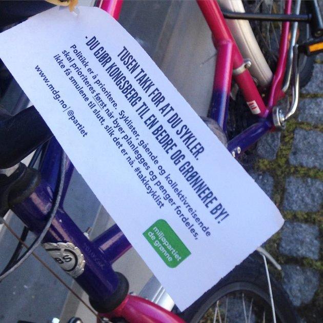 MDG oppfordrer alle partiene til å bli med på vi kan øke sykkelandelen til 15% i løpet av 2019 – 2023.