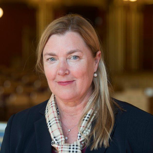 Elin Agdestein, stortingsrepresentant for Høyre, kjemper med Per Olav Tyldum (Sp) om ett mandat på Stortinget fra Nord-Trøndelag. Hun går sterkt til angrep på Tyldum i debatten om formueskatt.