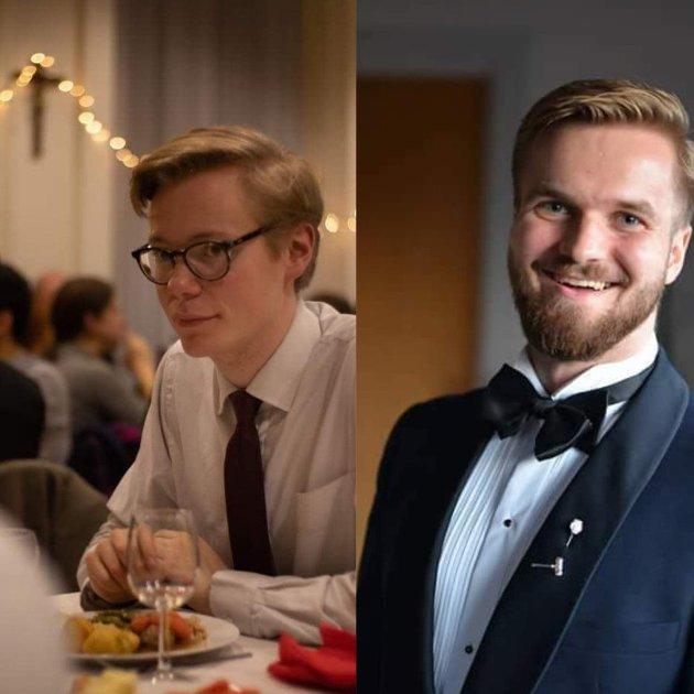 Øyvind J. V. Evenstad til venstre, Christian H. D. Nielsen til høyre.