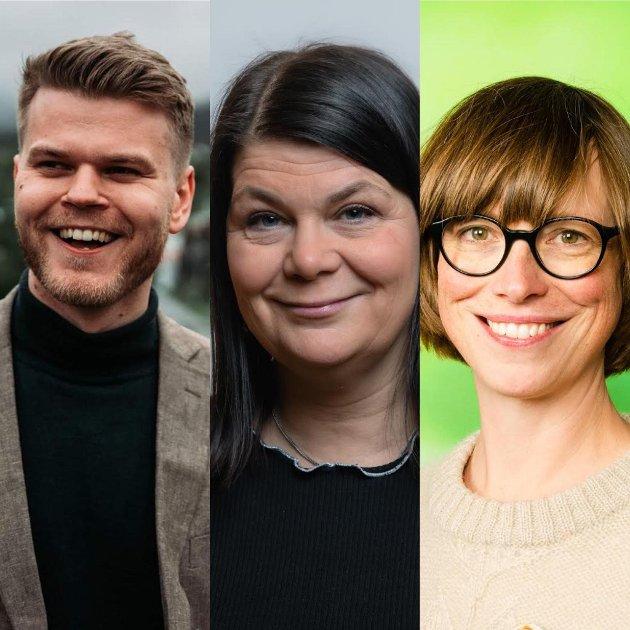 Even Aronsen, Trine Noodt og Ida Gudding Johnsen