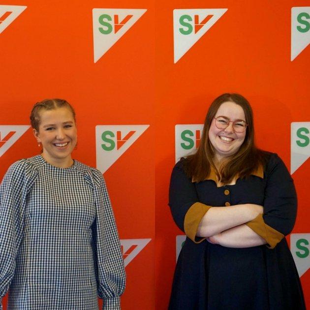 Sigrid Bjørnhaug Hammer og Katrine Boel Gregussen, stortingskandidater for Troms SV