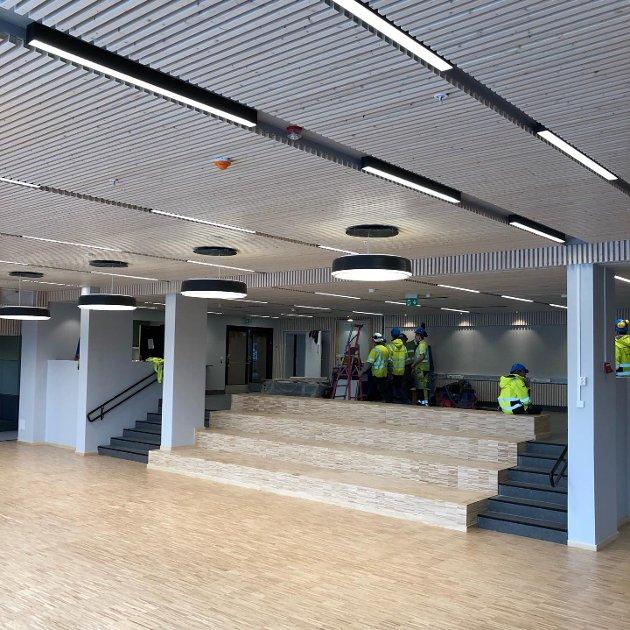 TOTALRENOVERES: Den over femti år gamle skolen på Nordseter får en etterlengtet oppussing. Her fra aulaen.