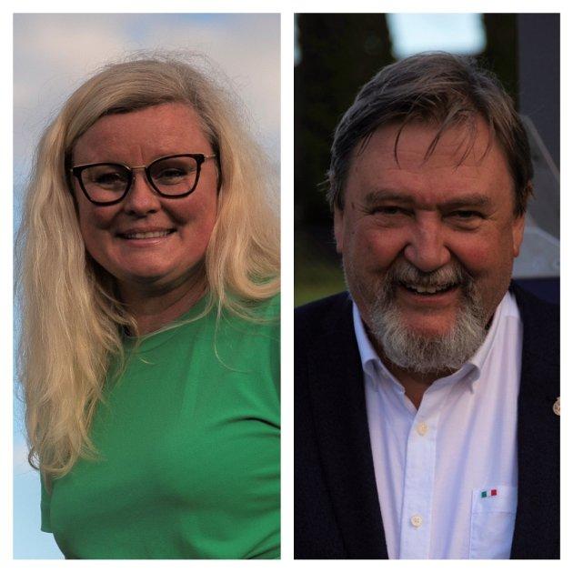 Pia Farstad von Hall, leder Nordstrand Høyre og 3. kandidat til bystyret. Arve Edvardsen, BU-leder Nordstrand Bydel
