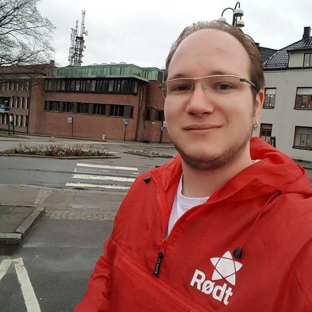 Jan Petter Bastøe, toppkandidat for Rødt i Sarpsborg.
