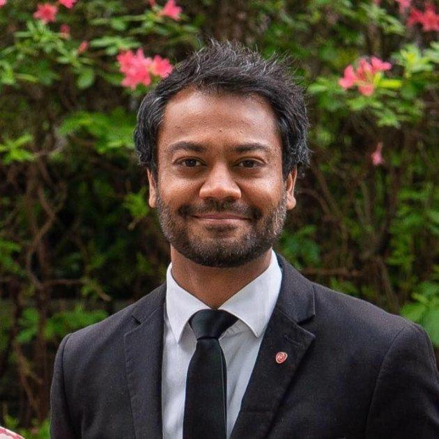 Shakeel Rehman, kandidat på Østfold Arbeiderpartis stortingsliste. (Foto: Moss Ap)
