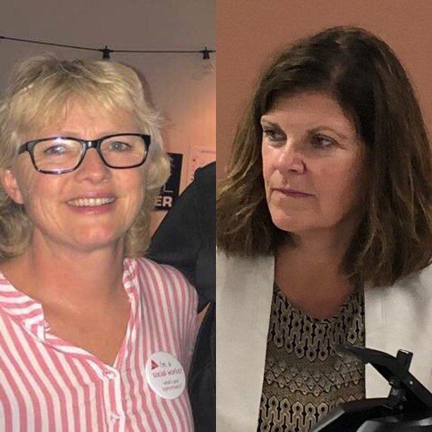 Hovedtillitsvalgt i FO i Re Monica Holtan Fjeld og klubbleder i FO Tønsberg og Re Bente Årset