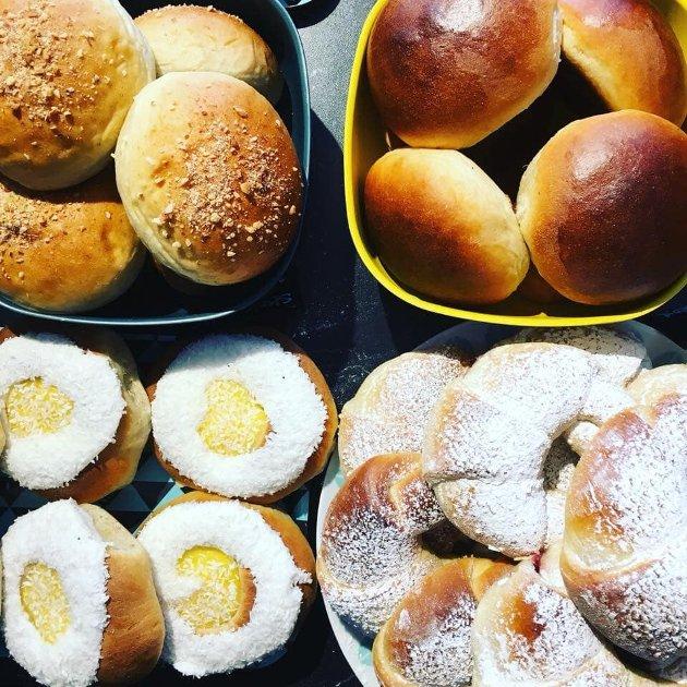 Dette er noen av bakervarene på Bonzo Bakeri. Arkivfoto