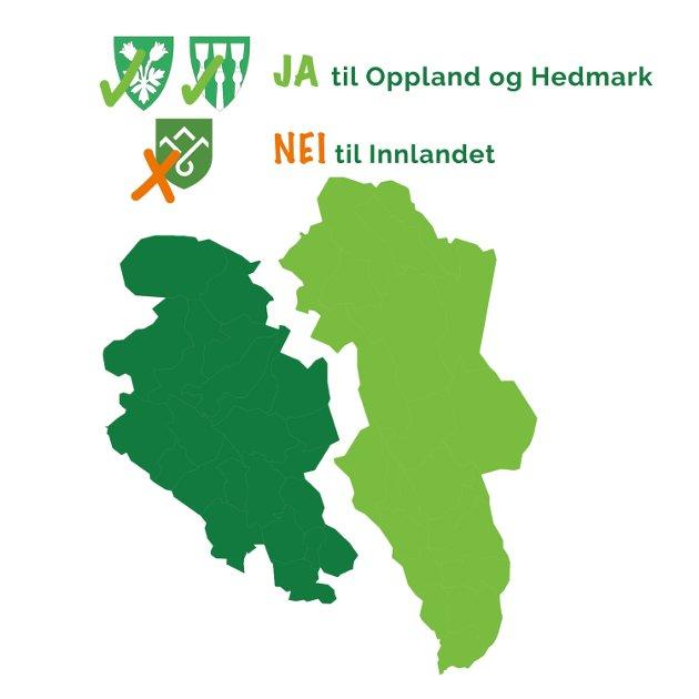 En folkeavstemming avgjør om Innlandet fylke skal løses opp.