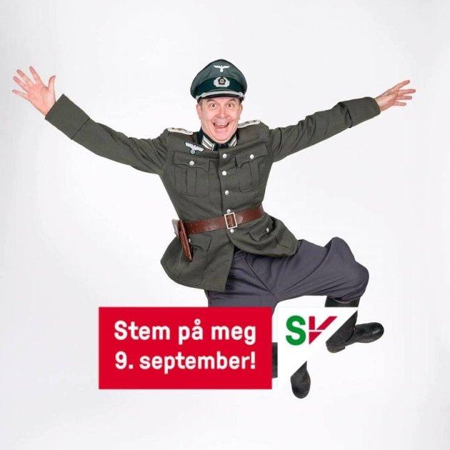 DET KONTROVERSIELLE BILDET: Det er dette bildet av Markus Scarth Tønseth Jørn Standal reagerer på..