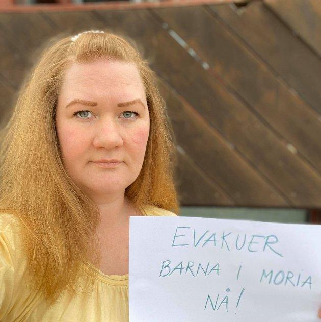 Anne Lise Fredlund og Innlandet SV mener Norge skal gå foran og evakuere barna fra Moria-leiren nå