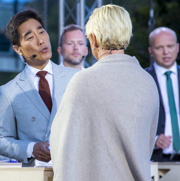 Sentral: NRKs Fredrik Solvang er en av de mest framtredende aktørene i den norske lokalvalgkampen. Dette bildet er fra Arendalsuka.Foto: Håkon Mosvold Larsen / NTB scanpix