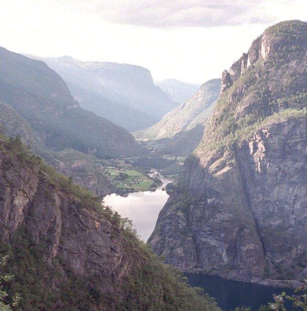 Aurlandsdalen: Så vakkert er det i Norge  Foto: Vidar Knai, SCANPIX