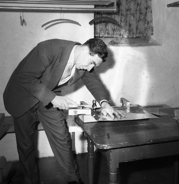 Januar 1963 Misjonssambandet Råstad - pedikkurs/tinnarbeide i Sandefjord Foto: Søren Emanuelsson.