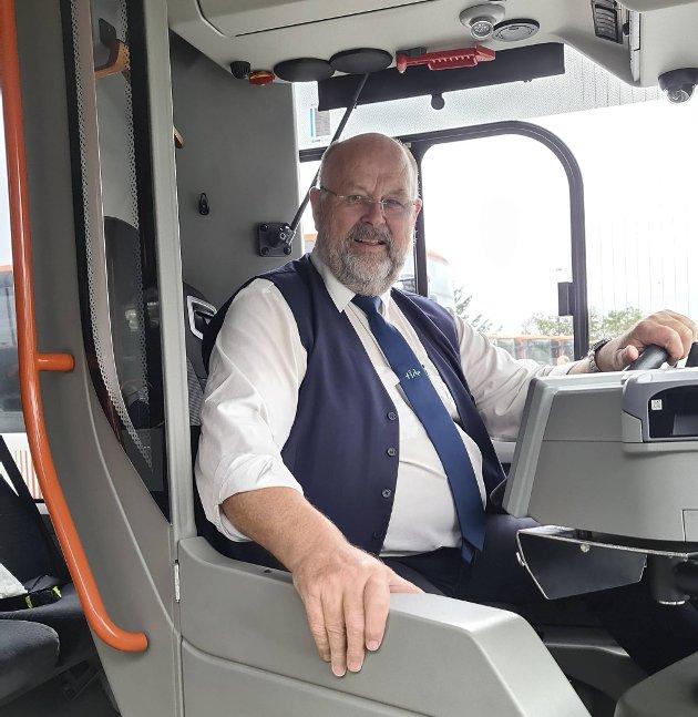 – Rutetidene er en utfordring vi ikke vet hvordan vi skal håndtere, skriver bussjåføren. FOTO: PRIVAT