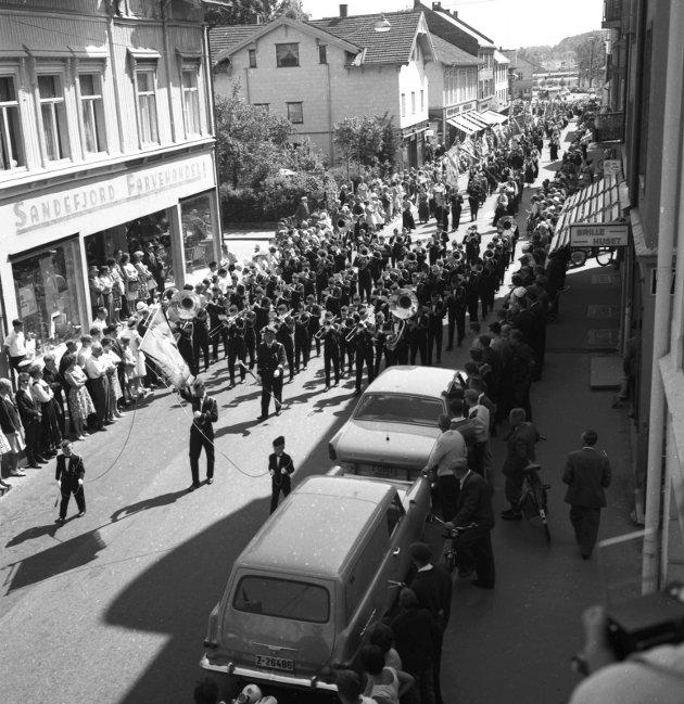 1963: Norges Bondelags landsmøte i Storgata.