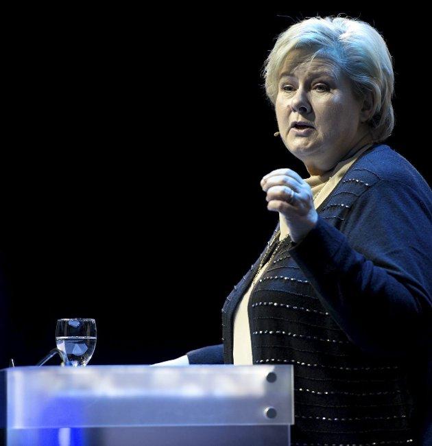 USA-BESØK: Norske miljøforkjempere stiller krav til at Erna må omvende Trump, skriver Audun Tjomsland. Foto: Stortinget