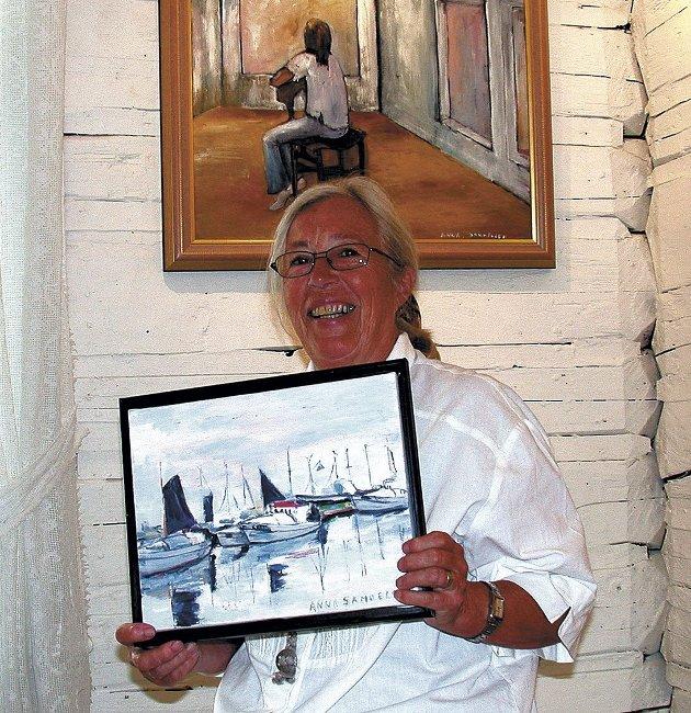 Har gått bort: Vennene i Tvedestrand maleklubb minnes Anna Samuelsen som en raus og flott person. Hun la ned en stor innsats for maleklubben, hvor hun ble utnevnt til æresmedlem.
