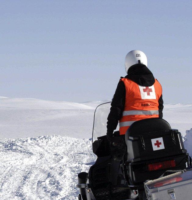 På vakt: Mange frivillige er på vakt for Røde Kors i påska.