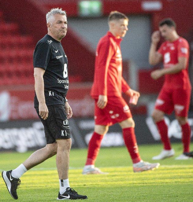 Brann er i sportslig krise, men det er ingen grunn til å skifte ut trener Kåre Ingebrigtsen, mener Offsiden-spaltist Mathias Macody Lund. FOTO: JAN KÅRE NESS, NTB