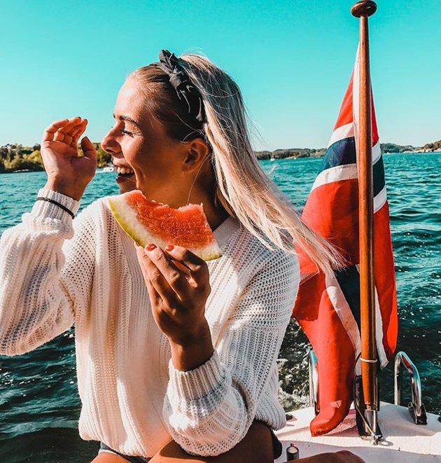UKESVINNER: – Norsk sommer, kommenterer Petter Svendsen til dette bildet. Vi synes også at bildet oppsummerer sommerstemningen i Sandefjord de siste dagene på en god måte, og Petter er ukesvinner!