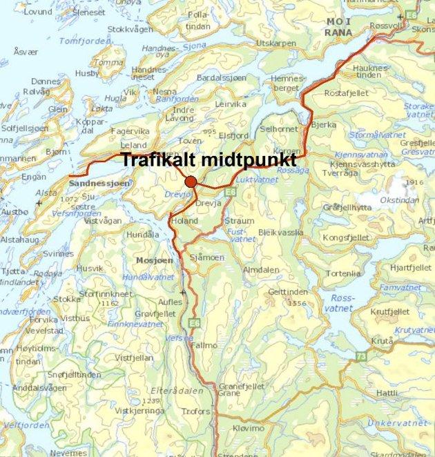 Kart:  Kartgrunnlag Statens kartverk, Geodata