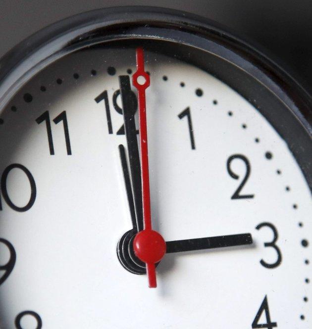 Vintertid: Det er tid for å stille klokka.Foto: Erik Johansen / NTB scanpix