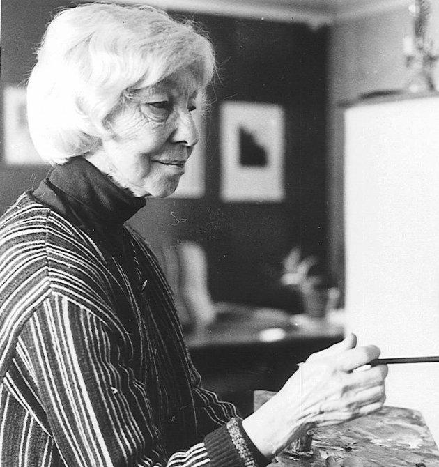 TEGNER OG ILLUSTRATØR: Borghild Rud Borghild Rud bodde og arbeida i Nittedal. Hun sto blant annet for illustrasjonene til Alf Prøysens bøker om Teskjekjærringa.