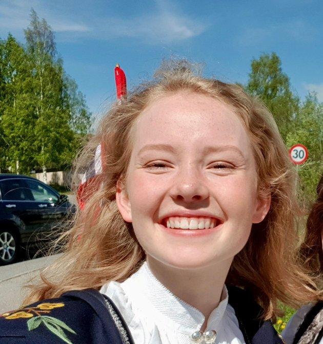 Åsne Mjelde Refsum (18), landsstyrerepresentant for Viken Natur og Ungdom