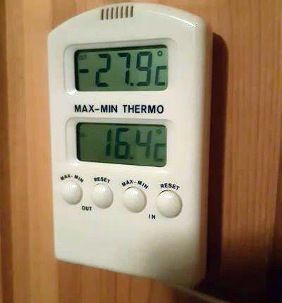 GANSKE KALDST: - Ikkje så ille, har ikkje vært varmere en 26 Blå i dag i Nordberg i Skjåk, skriver Leif Bruland til OA.