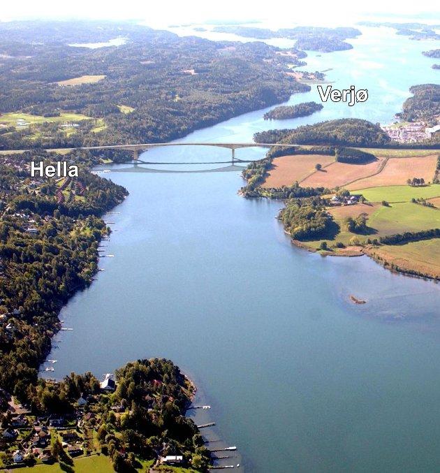 GRØNN FORBINDELSE? Hva med å bygge en gang- og sykkelbro over Vestfjorden, spør Ole Henrik Morgenstierne. Han utelukker imidlertid ikke at det også kan bygges en bilvei.
