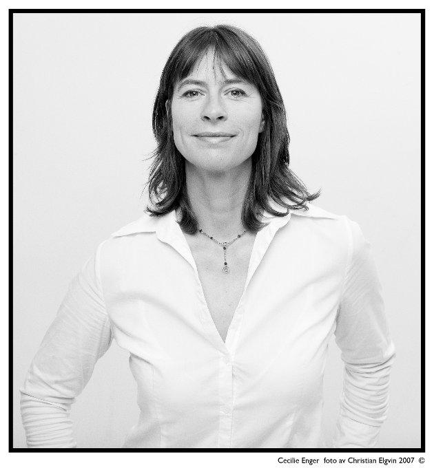 Cecilie Enger fra Asker jobbet tidligere som journalist i Dagens Næringsliv.