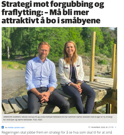 FAKSIMILE: Agders intervju med de to statsrådene.