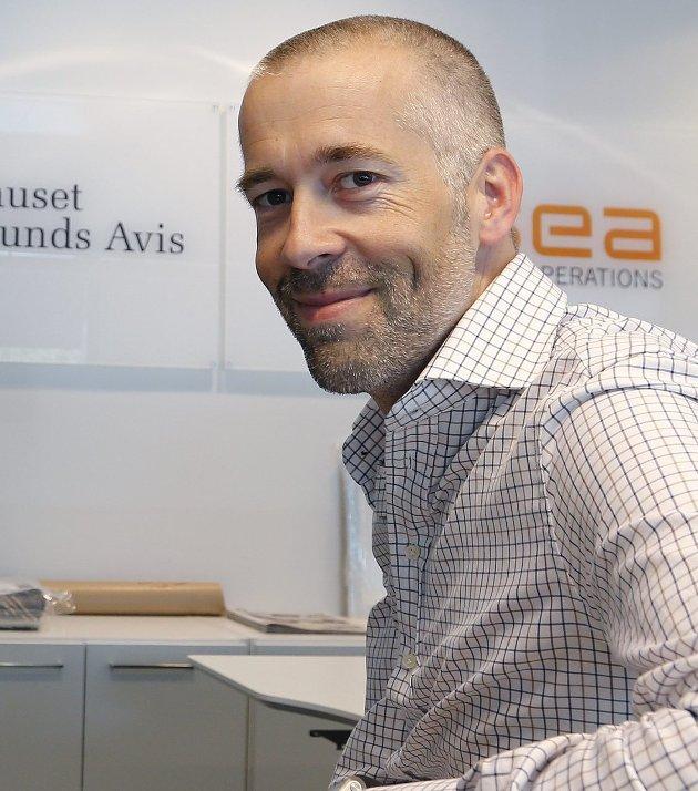 REDAKTØR: Ansvarlig redaktør i Haugesunds Avis, Einar Tho. Arkivbilde, siden også han nå er i karantene etter å ha dekket Haugalandskonferansen.