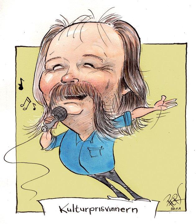 Kulturprisvinneren Henning Bentsen.
