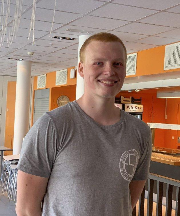 Truls Lindjordet (17) fra Mysen: – Jeg skal trene mye og kose meg. Jeg skal kanskje til Danmark, hvis det er lov. Sole meg og bade mye.