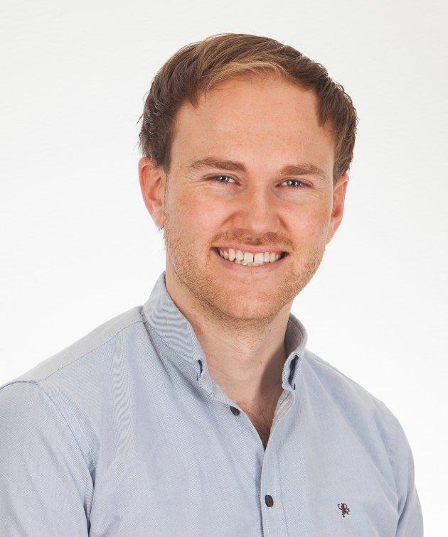 Andreas Madland Størdal er 1.-kandidat for Øvre Eiker Venstre