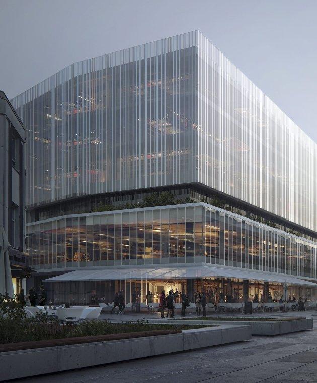 Bibliotek: Lenge har biblioteket hatt behov for å bli større. Det kan bli et opplevelsessenter, ikke minst for barn og unge, gjennom alle litteraturens sjangere, skriver Audun Tjomsland. Illustrasjon: MIR/Schjelderup Trondahl arkitekter AS