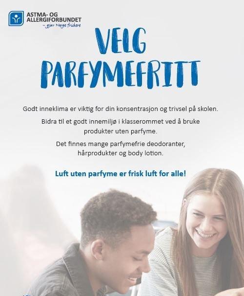 FRI: Norges Astma- og Allergiforbund arrangerer parfymefri uke for å minke bruken av unødvendige kjemikalier som kan bidra til at man utvikler allergier og overfølsomhet.