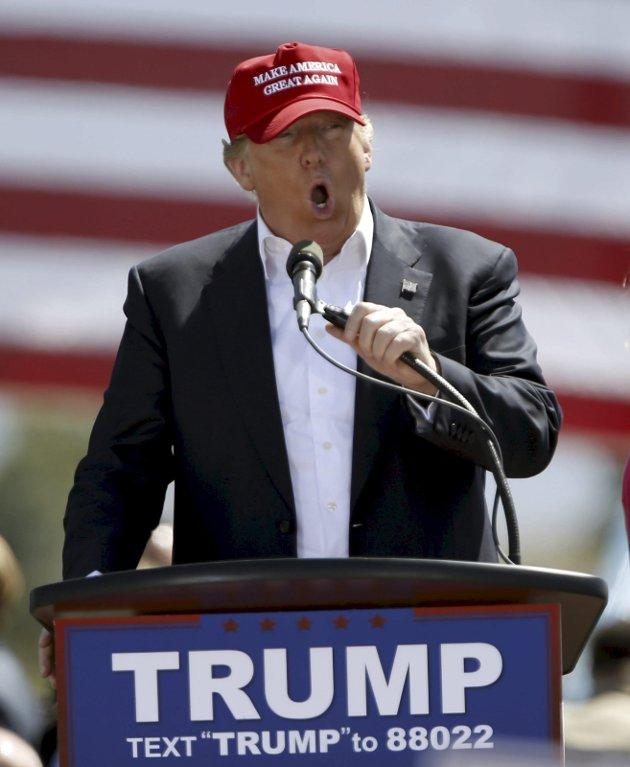 Kandidat: Trump appellerer nå til den samme velgergruppen som var hardest rammet av depresjonen i 2008-09. Foto: REUTERS/Mario Anzuoni