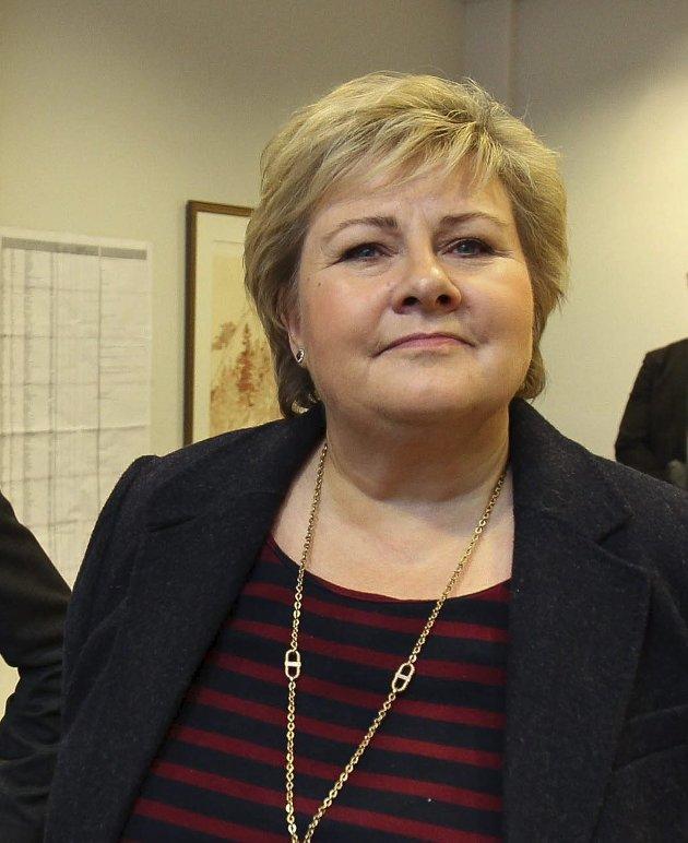 Ny orden: Erna Solberg, statsminister bes svare på EF og EØS-spørsmål.