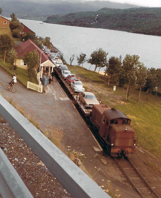 Absolutt siste tog fra Sulitjelma, juli 1972 (Fotograf ukjent, Kåre Enges samling)