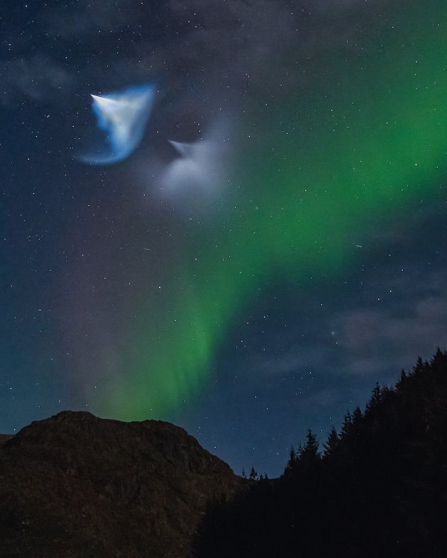 Lysfenomenet sett fra Kyllingdalen.