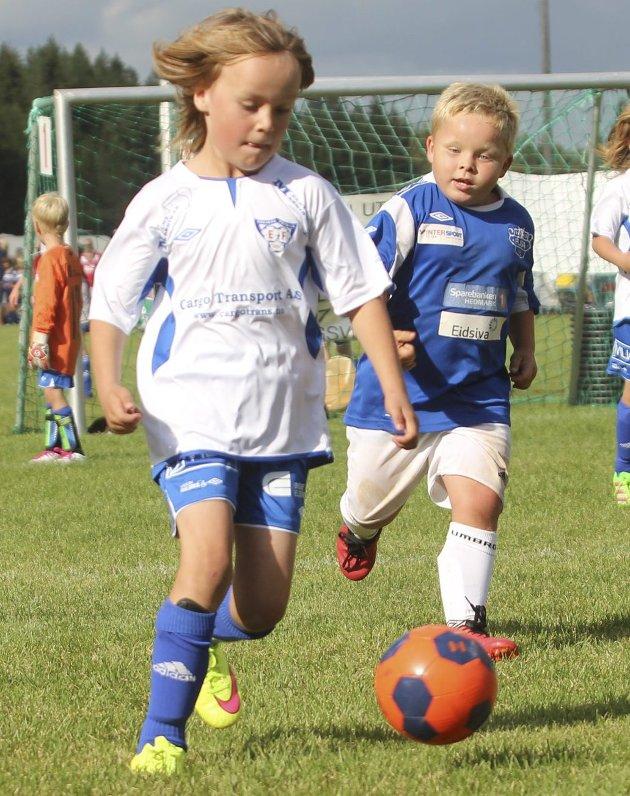 Derby: Eidskogs sjuåringer møtte Flisa i lokalkamp.
